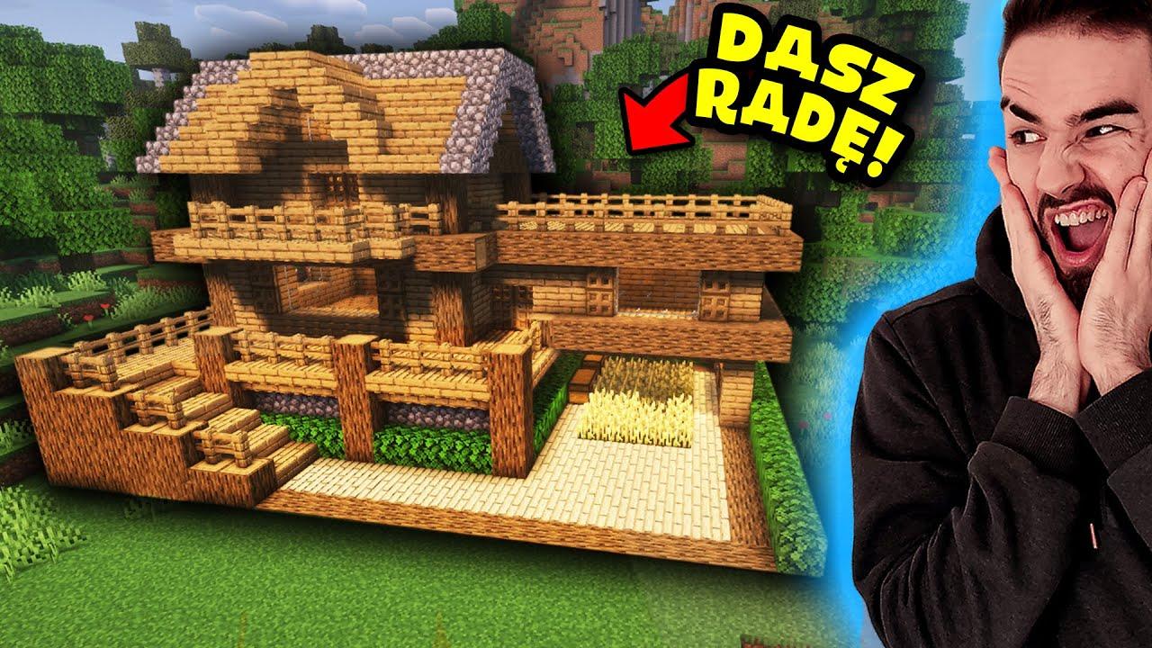 Minecraft Jak Zbudowac Prosty Domek Willa 24 Youtube