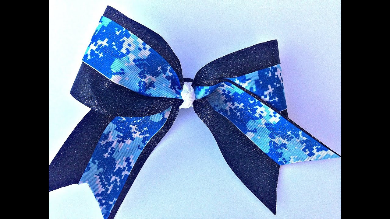 How To Make A Big Glitter Cheer Bow Without Sewing Youtube