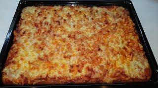 Быстрая ПИЦЦА 🍕За 30 минут в духовкеЗаливная пицца на кефире.