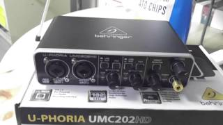usb audio interface behringer umc202hd review