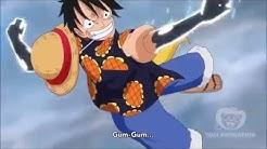 One Piece Episode 721 - Luffy Vs Doflamingo - HAWK GATLING
