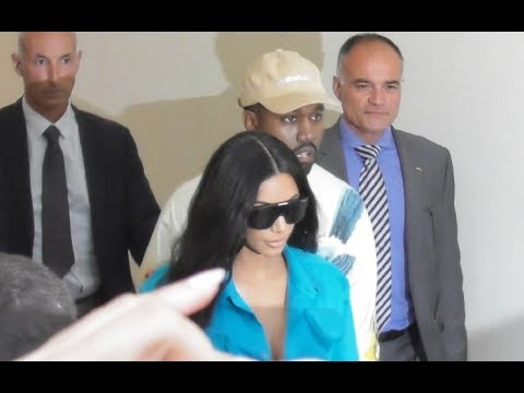 VIDEO Kim Kardashian & Kanye West back @ Paris 21 june 2018 Fashion Week show Vuitton / juin