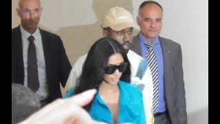 VIDEO Kim Kardashian & Kanye West back @ Paris 21 june 2018 Fashion Week show Vuitton / juin