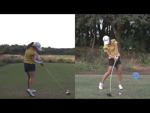 AI MIYAZATO - PERFECT ANGLES SIDE BY SIDE SYNCED - CME GOLF SWING REG & SLOW MOTION 1080p HD