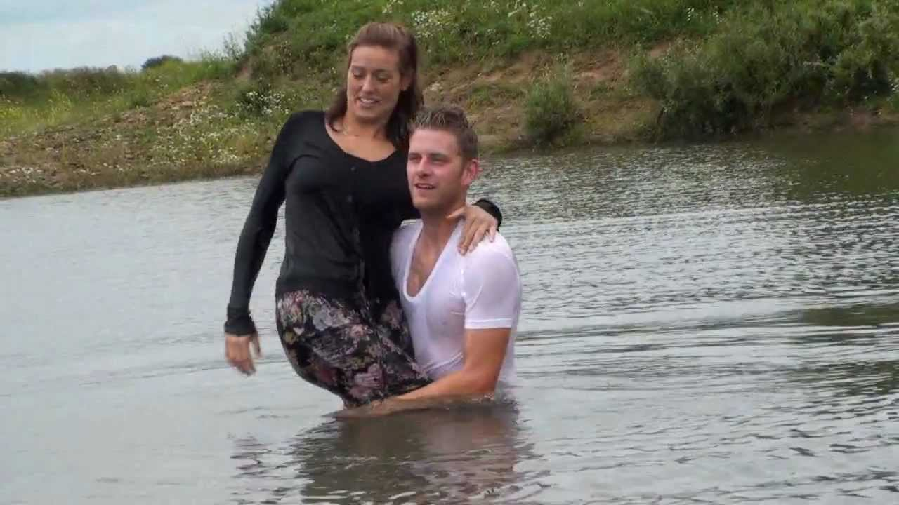 Cute Couple Takes A Swim In Clothes - Youtube-6128