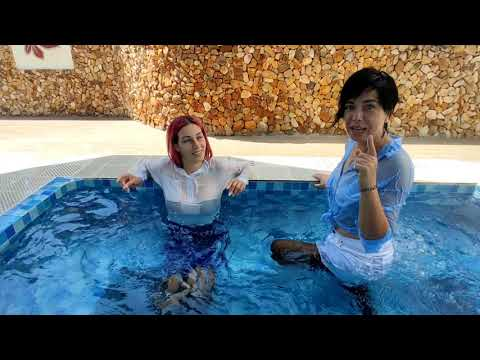 WETLOOK69 Kris and Mary share their impressions about wetlook in the jacuzzi🛀👯❣️