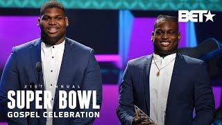 Quinnen & Quincy Williams Thank Family & God In Faith In Action Award Speech   Super Bowl Gospel '20