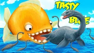 MI PEZ DEVORA AL MONSTRUO DEL LAGO NESS | TASTY BLUE