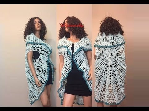How To Crochet A Sleeveless Cardigan Vest Pattern 392by