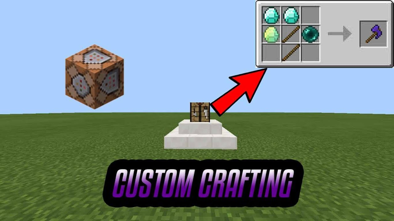 how to make custom crafting recipes in mcpe YouTube