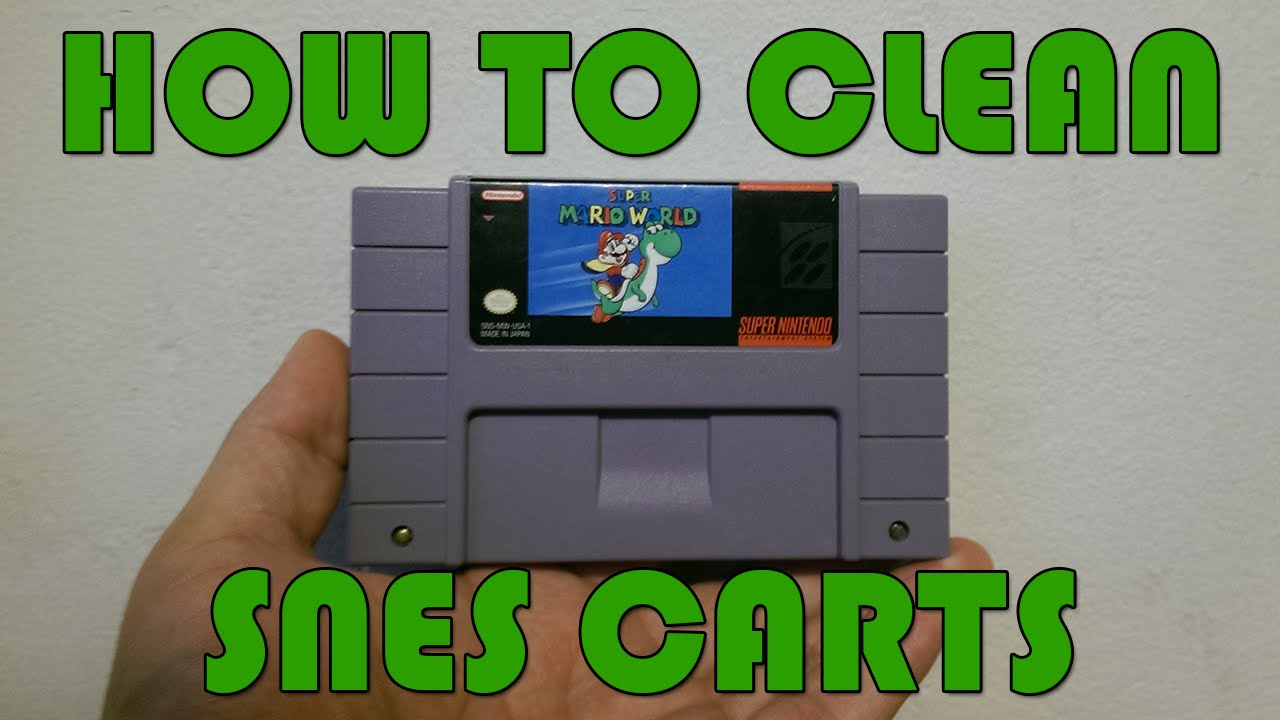 How To Open And Clean SNES Carts