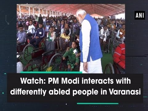 Watch: PM Modi interacts with differently abled people in Varanasi - Uttar Pradesh News