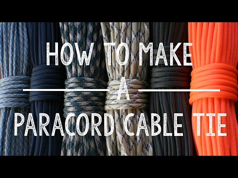 How to Make a Paracord Cable Tie