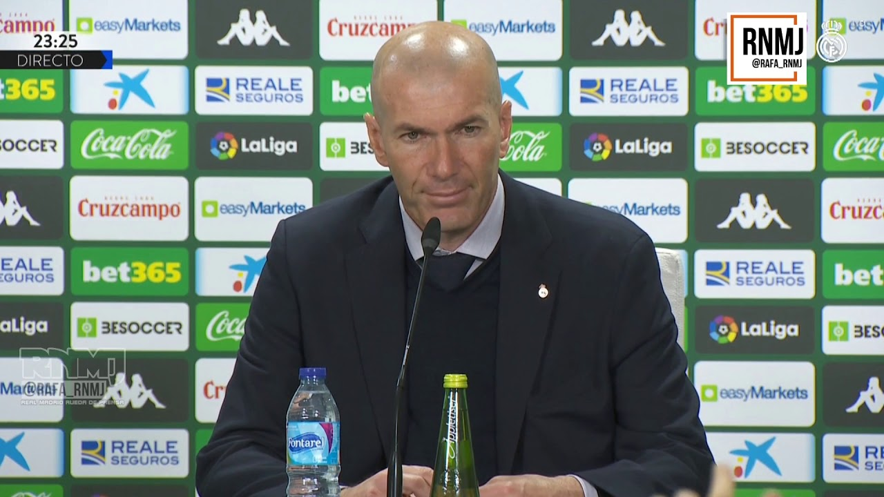 Rueda de prensa de ZIDANE post Betis 2-1 Real Madrid (08/03/2020)