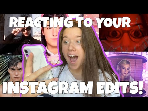 reacting to YOUR instagram EDITS!