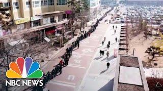 Long Lines For Face Masks In City At Center Of South Korea's Coronavirus Crisis | NBC News