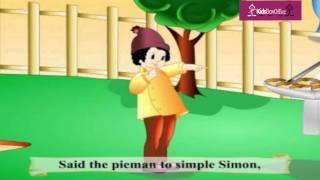 """""""Simple Simon Met A Pieman"""" Nursery Rhymes &  Children Songs with Lyrics"""