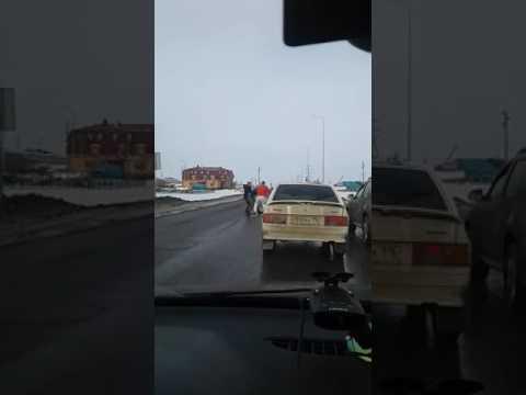 Драка на дороге.Татарстан.Fight On The Road.Of Tatarstan.