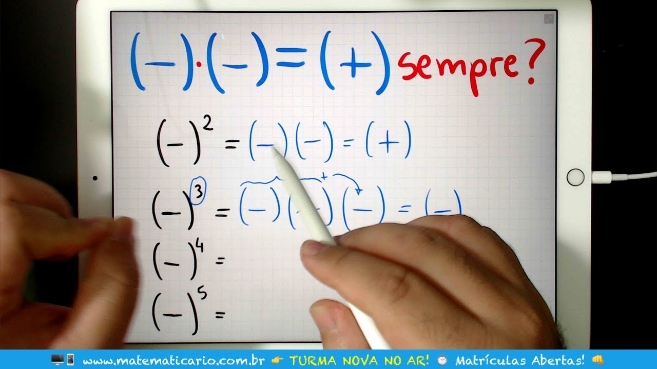 MENOS COM MENOS SEMPRE DÁ MAIS? 👉 Minuto Matemática