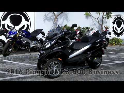2016 Piaggio MP3 500 Business Black at Euro Cycles of Tampa Bay