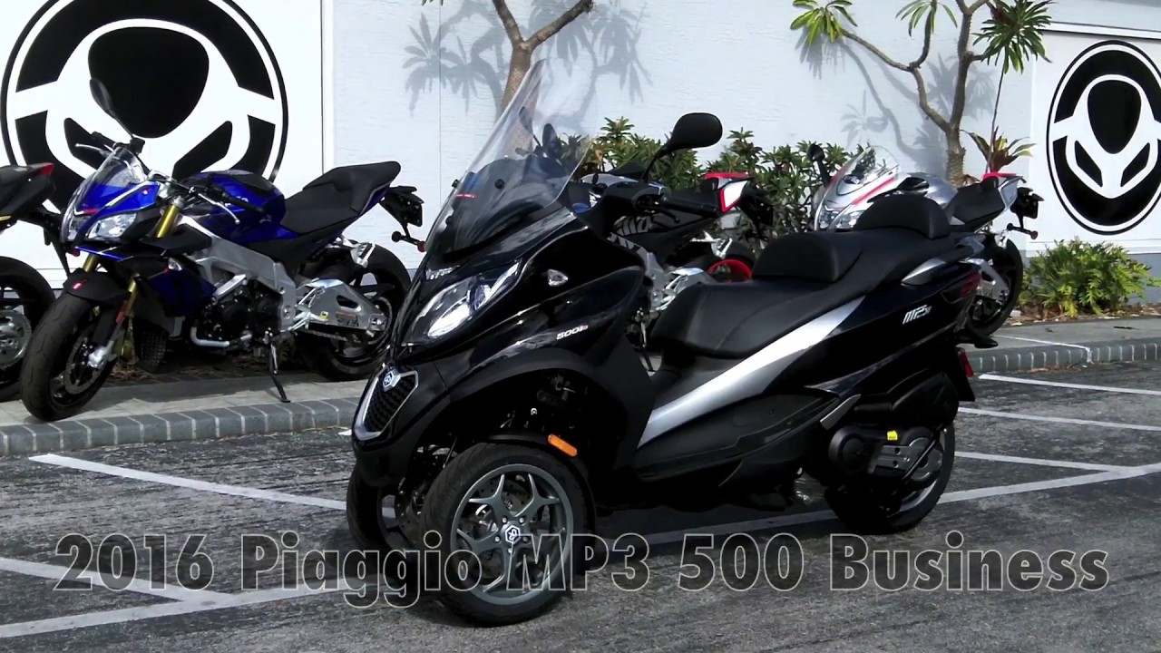 2016 piaggio mp3 500 business black at euro cycles of tampa bay