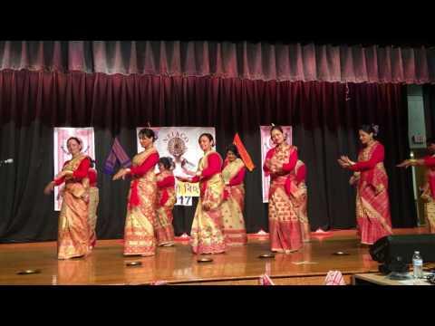 New Jersey Rongali Bihu 2017. Group Bihu Dance
