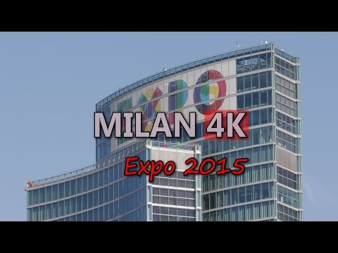 Ultra HD 4K Milan Expo 2015 International Exhibition Universal Fair Trade UHD Video Stock Footage