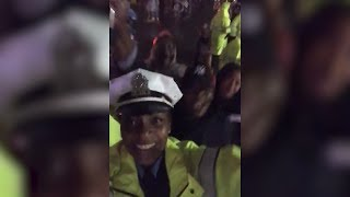 Police Officer Isn't Ashamed To Dance While On Duty at Music Festival