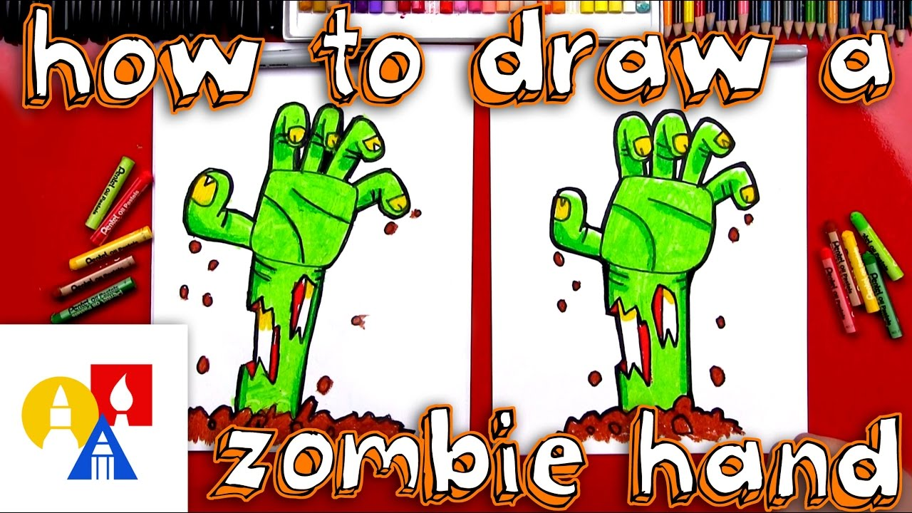 How To Draw A Zombie Hand Coming Out Of The Ground Youtube