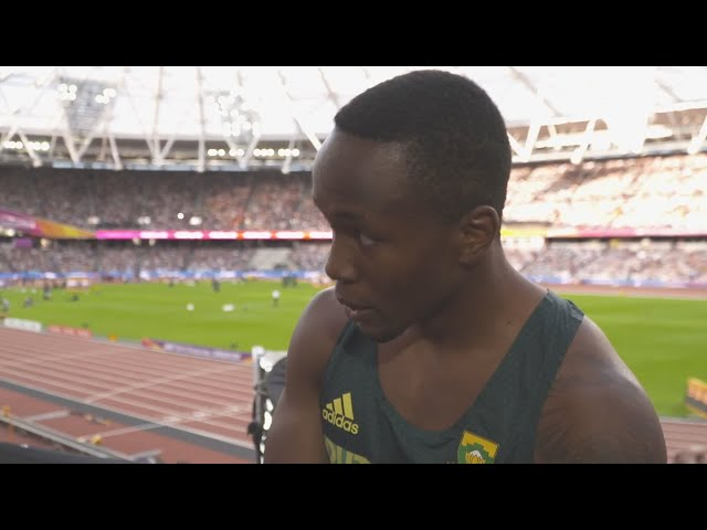 WCH 2017 London - Akani Simbine RSA 100 Metres Semi Final 1
