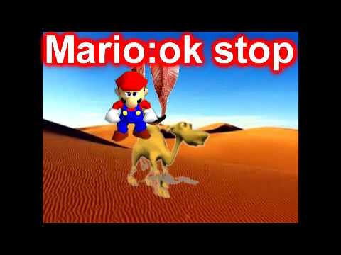 Super mario 64 bloopers:mario in the desert