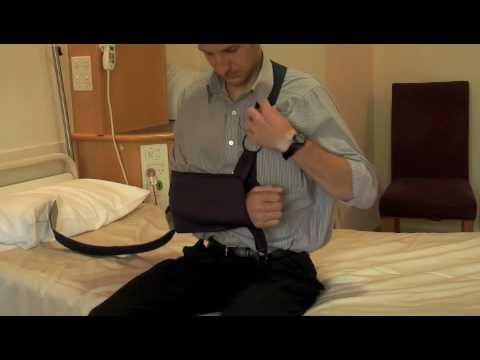 shoulder immobiliser sling instructions