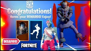 FORTNITE x IT the THING 2 with FREE CHALLENGES and WOMEN'S LOVE GUARD!