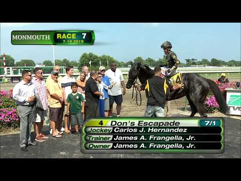 video thumbnail for MONMOUTH PARK 7-19-19 RACE 7