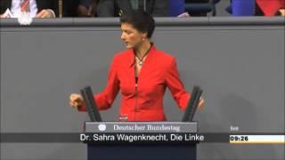 Sahra Wagenknecht: Frau Merkel als Vasall des Plans von
