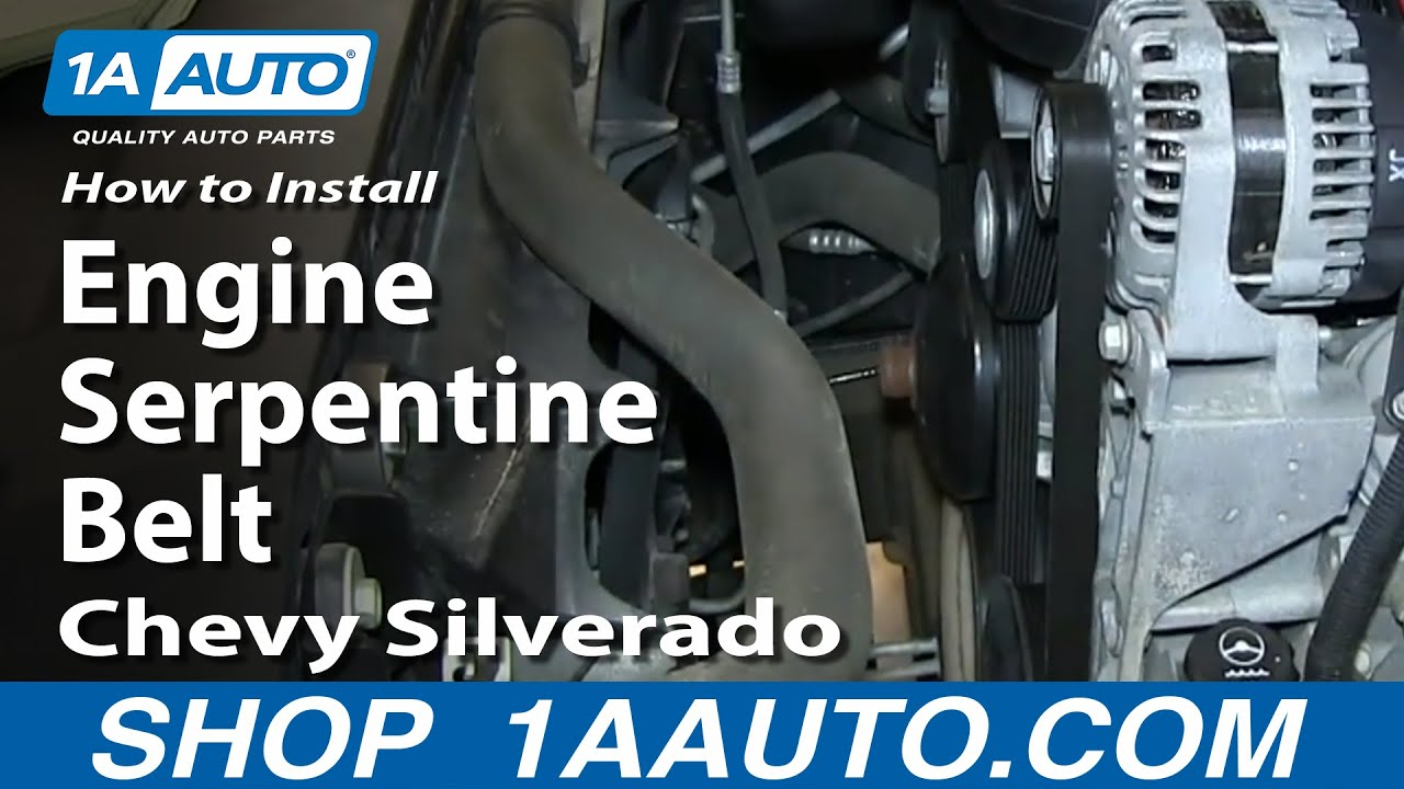 How To Replace Serpentine Belt 07 13 Chevy Silverado Youtube