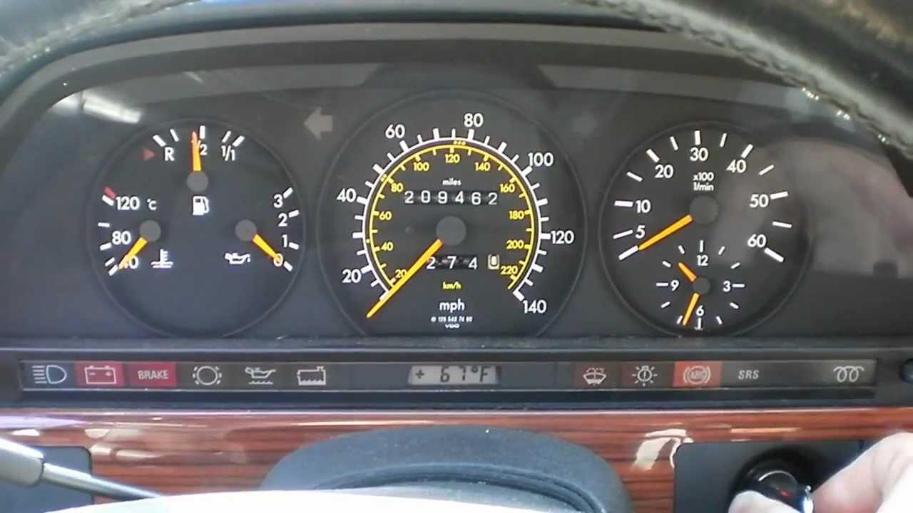 W126 mercedes 350 sdl turbo diesel cool start