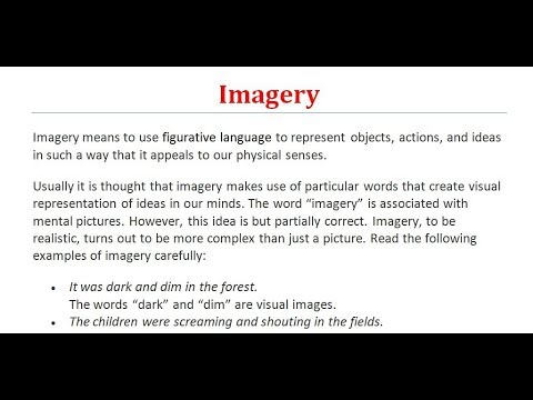 Imagery What Is Imagery Figure Of Speech Literary Terms