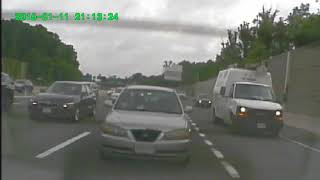 Car accident on I495, Exit 47A-B on 06/13/2018, 8:30am rear dash cam