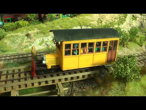 On3 Narrow Gauge Model Railroad Layout and Trains of the Diamond and Caldor Railway