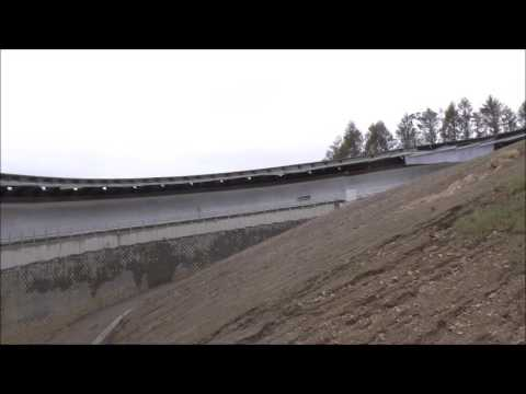 Luge test runs at the FIL pre-homologation for PyeongChang 2018