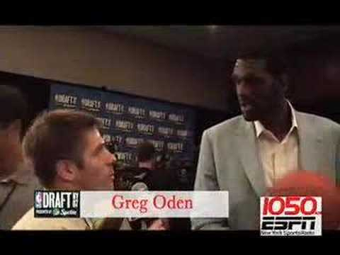 Greg Oden interview