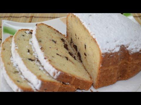Простой кекс в хлебопечке с шоколадом