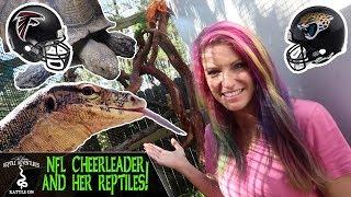 NFL CHEERLEADER AND HER REPTILES! (Atlanta Falcons! Jacksonville Jaguars! Awesome Reptile Shop!)