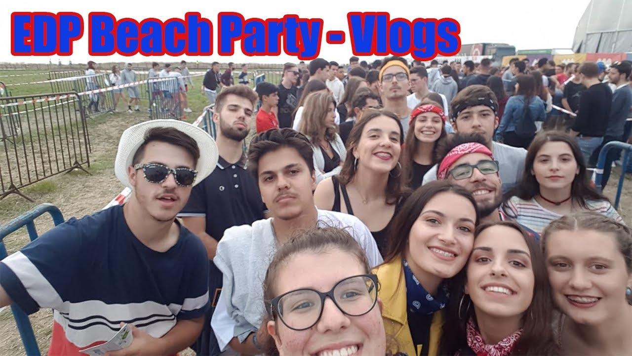Fui ao EDP Beach Party!!! | Vlog - YouTube