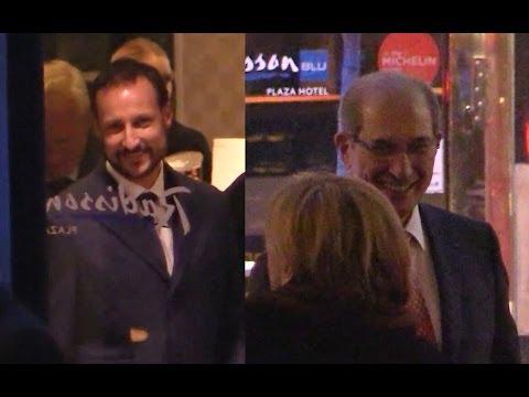 Kronprins Haakon og Generaldirektøren i OPCW, Ahmet Üzümcü før og etter Nobel-konserten