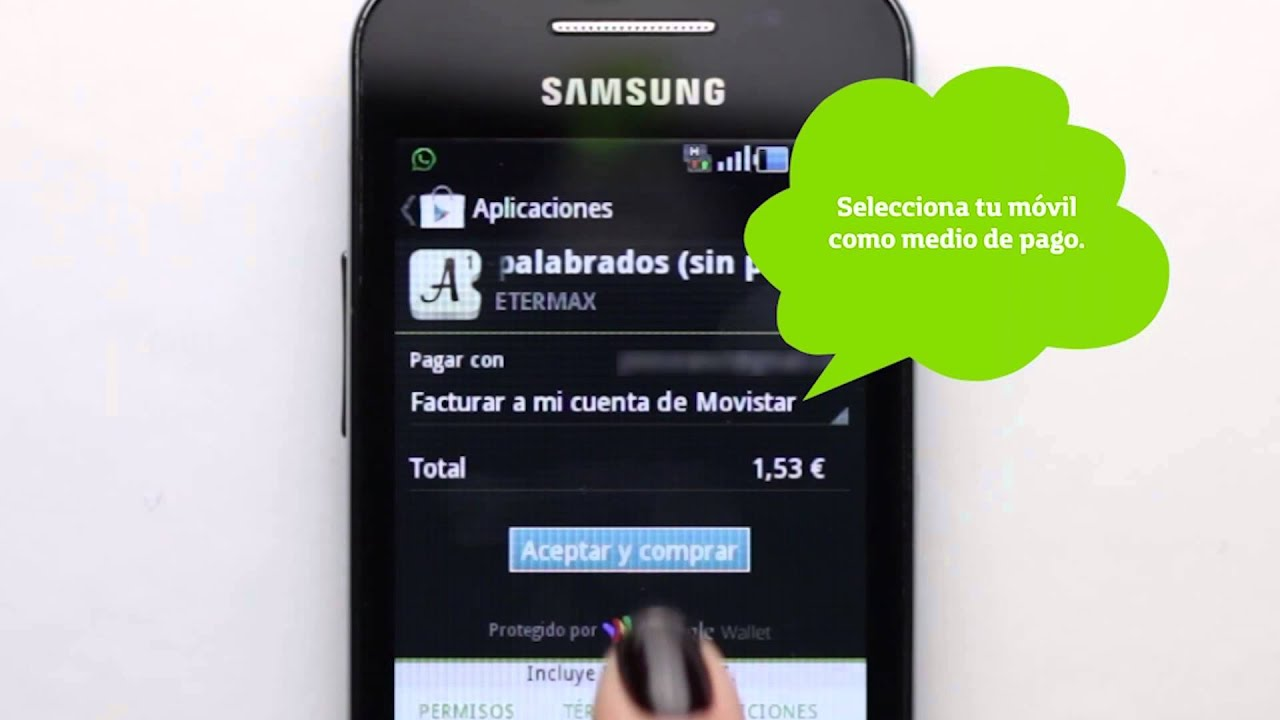 2e4ea8a5cbb Cómo comprar en Internet con Pagos Movistar en Google Play. - YouTube