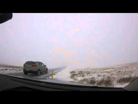 Driving into a snow storm and right back out