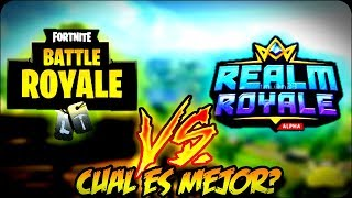 FORTNITE VS REALM ROYALE WHICH IS BETTER? + READING COMMENTS zChamoyYT