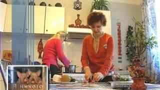 вегетарианские рецепты -  Ролы суши и салат - я никого не ем